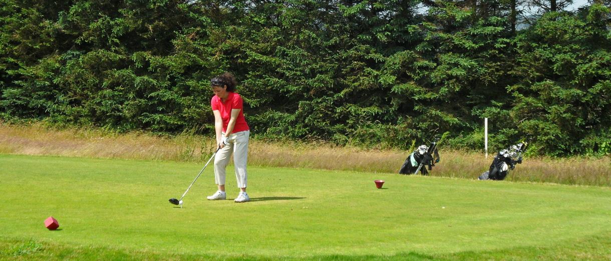 Golf i Skåne - Österlens Golfklubb - Utslag från tee Lilla Vik