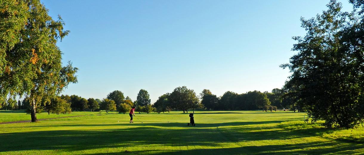Golf i Skåne - Landskrona Golfklubb - Utslag på Erikstorp 17:e