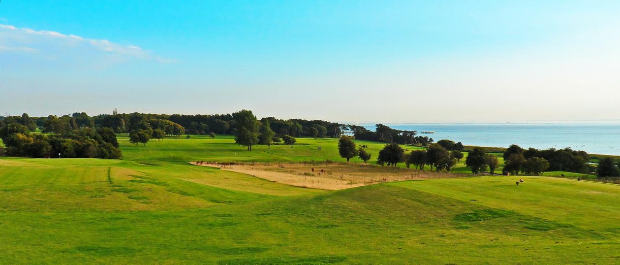 Golf i Skåne - Landskrona Golfklubb - Vy över västra delen av golfklubben