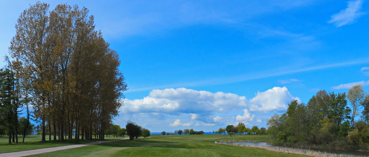 Golf i Skåne - Landskrona Golfklubb - Utsikt från Hildesborg 4:e tee