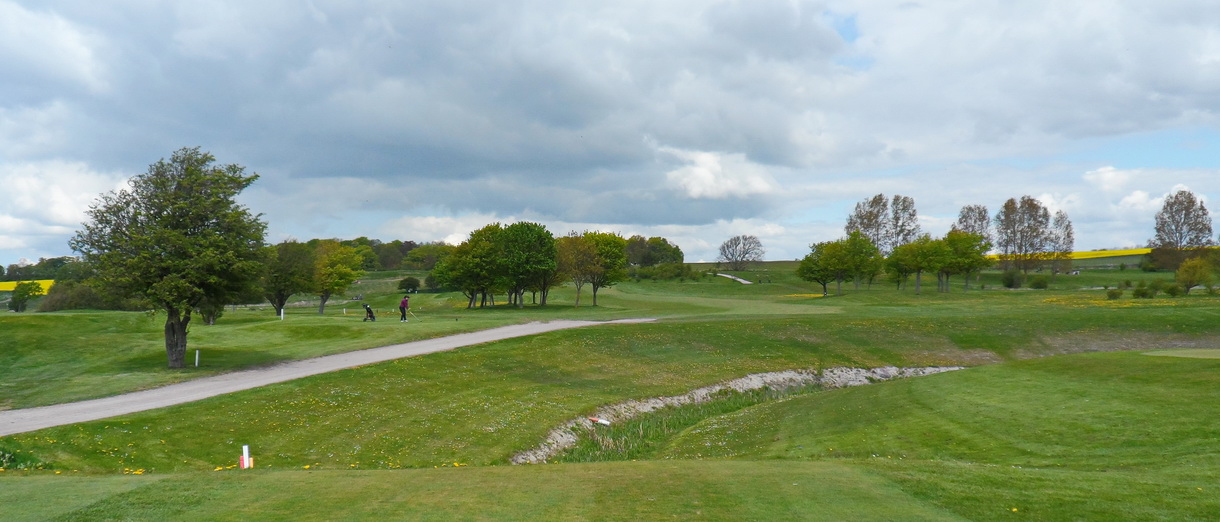 Golf i Skåne - Landskrona Golfklubb - Utsikt från Hildesborg 5:e tee