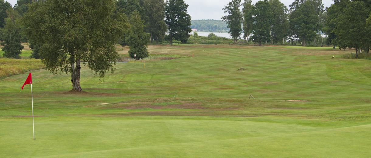 Golf i Skåne - Skyrups Golfklubb - Vy över 18:e