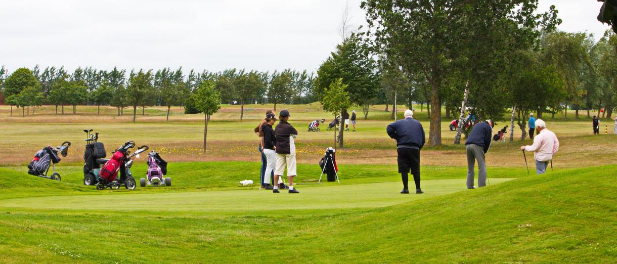 Golf i Skåne - Bedinge Golfklubb - På greenen