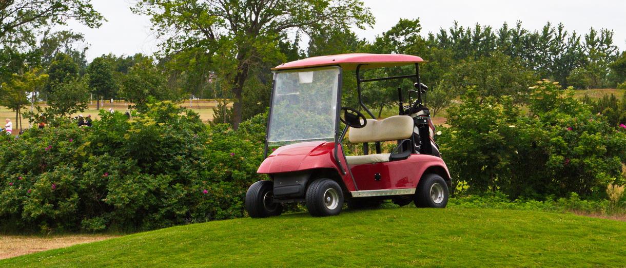 Golf i Skåne - Bedinge Golfklubb - Golfbil