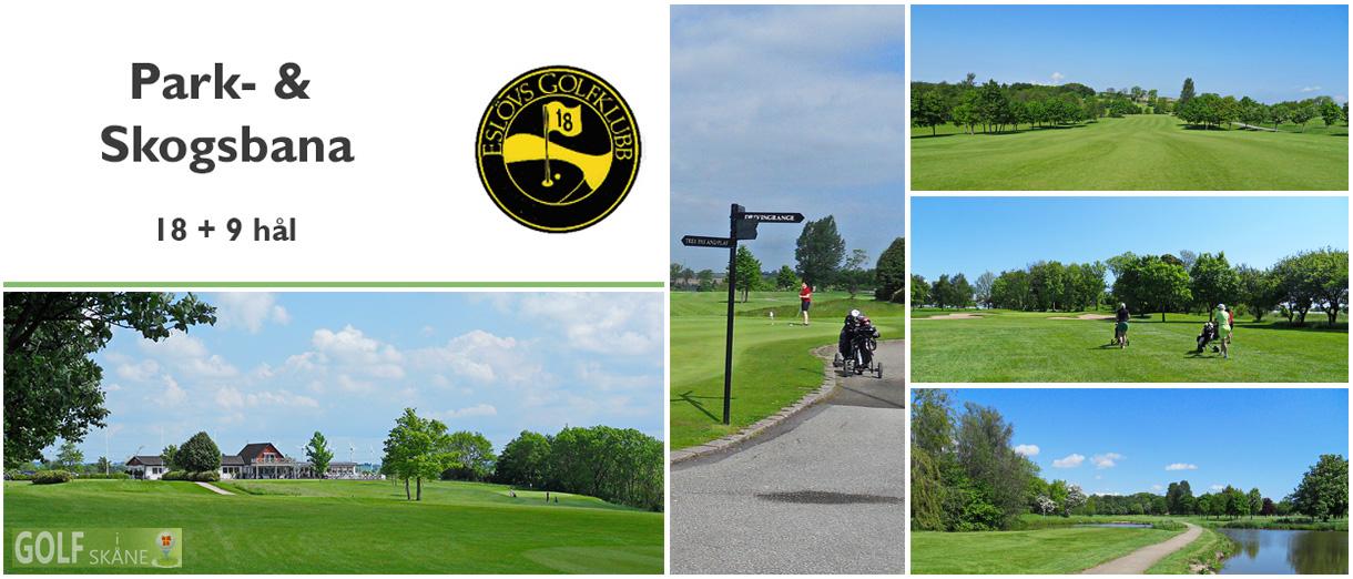 Golf i Skåne - Eslövs Golfklubb - Park och Skogsbana 18 + 9 hål