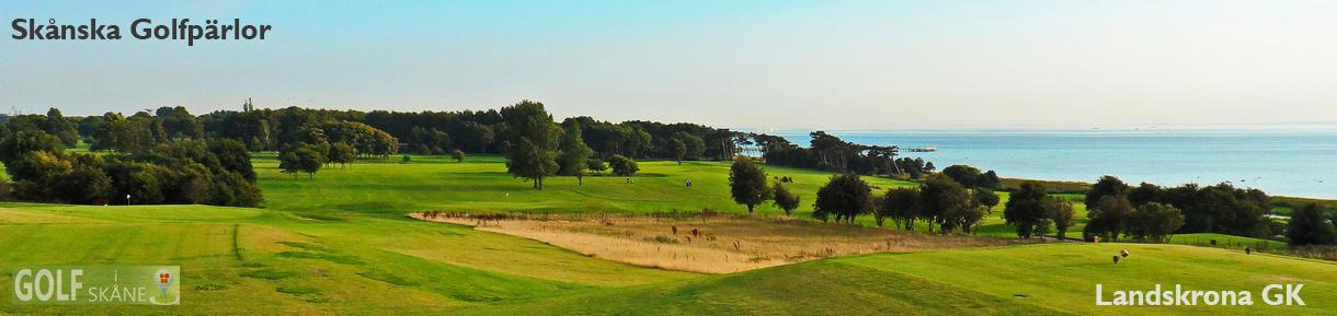 Golf i Skåne Skånska Golfpärlor Landskrona GK vy hål 12 golfiskane.se