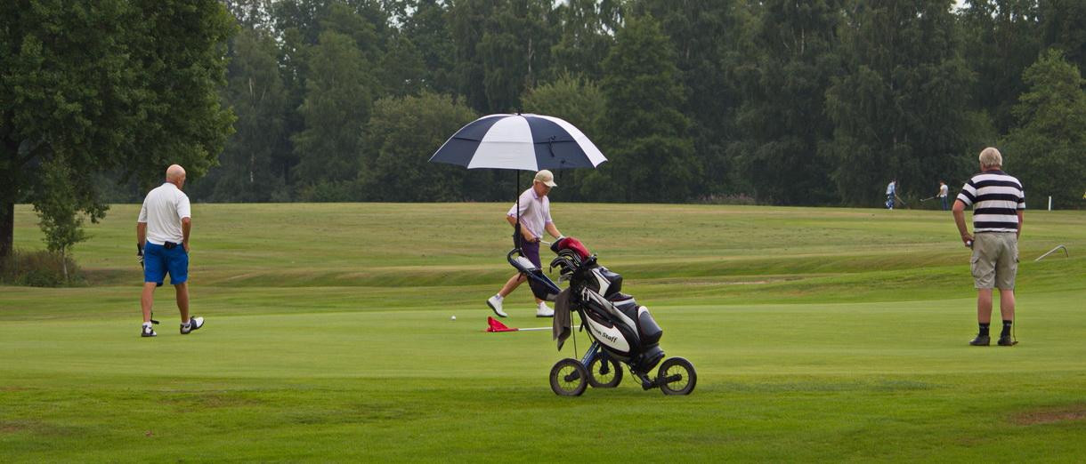 Golf i Skåne - Skyrups Golfklubb - på 18:e green