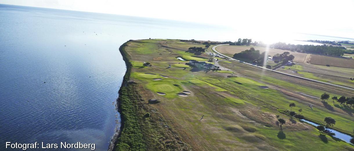 Golf i Skåne - Trelleborg Golfklubb - lite grann från ovan 1