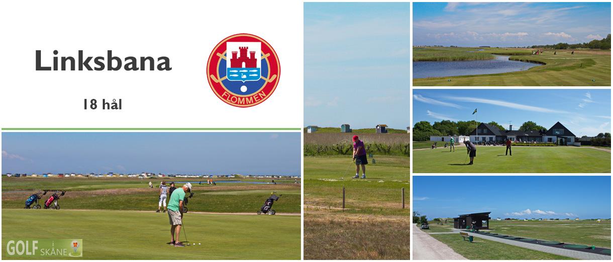 Golf i Skåne - Flommens Golfklubb - Linksbana 18 hål