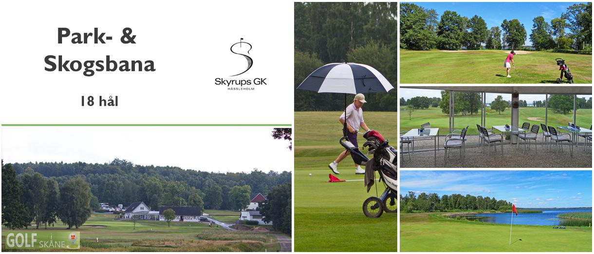 Golf i Skåne - Skyrups Golfklubb - Park- & Skogsbana 18 hål